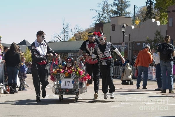 Photograph - Team 17 At Emma Crawford Coffin Races In Manitou Springs Colorado by Steve Krull