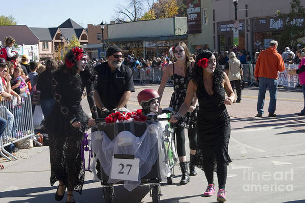 Photograph - Team #27 At Emma Crawford Coffin Races In Manitou Springs Colorado by Steve Krull