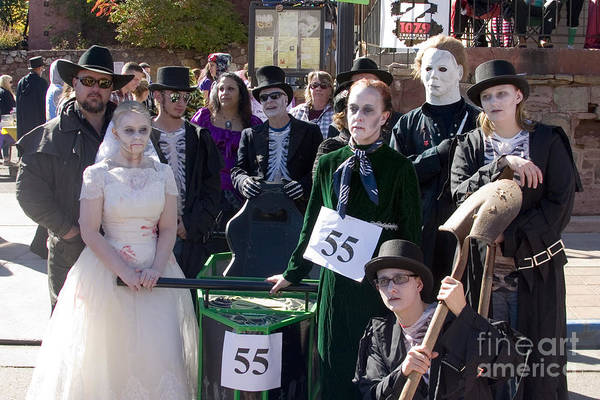 Photograph - Team 55 At Emma Crawford Coffin Races In Manitou Springs Colorado by Steve Krull
