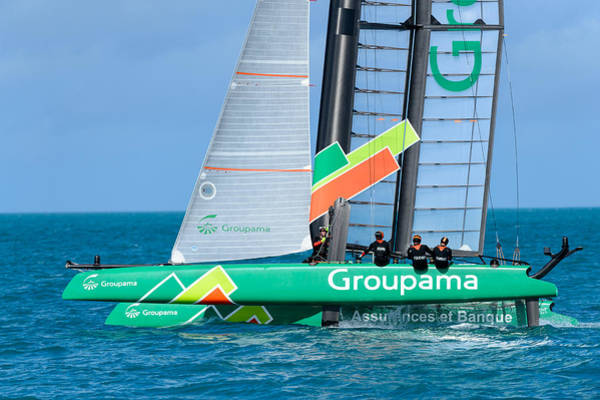 Ac45 Photograph - Team Groupama France by Chris Beard