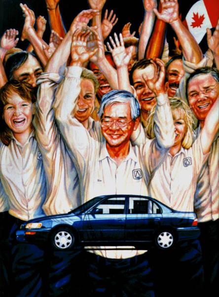 Wall Art - Painting - Team Toyota by Hanne Lore Koehler