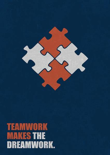 Wall Art - Digital Art - Teamwork Makes The Dreamwork Corporate Start-up Quotes Poster by Lab No 4