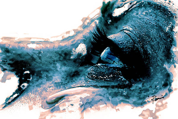 Digital Art - Tear by Charlie Roman