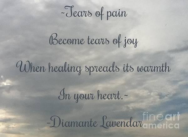 Photograph - Tears by Diamante Lavendar