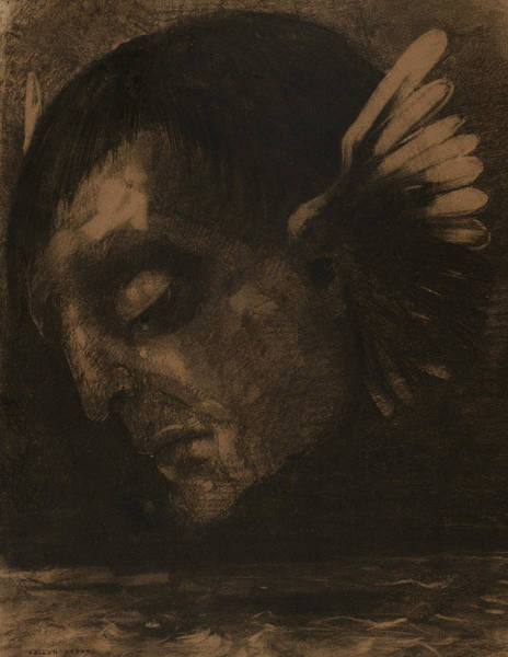 Drawing - Tears by Odilon Redon