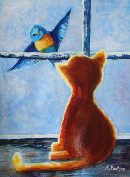 Painting - Teasing Bird by April Burton
