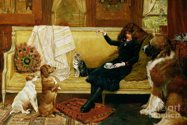 Wall Art - Painting - Teatime Treat by John Charlton