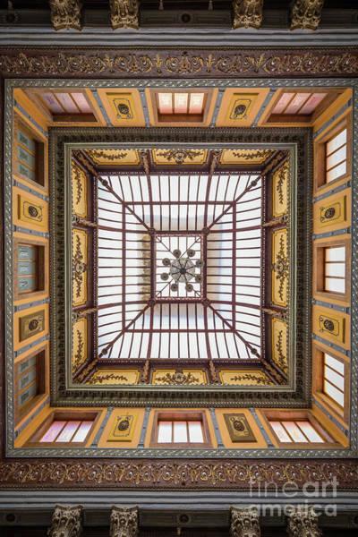 Photograph - Teatro Juarez Skylight by Inge Johnsson