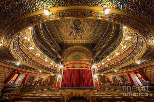 Wall Art - Photograph - Teatro Juarez Stage by Inge Johnsson