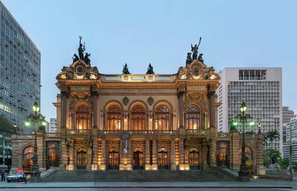 Photograph - Teatro Municipal De Sao Paulo by Wilfredo R Rodriguez