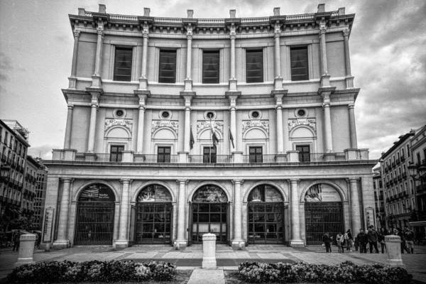 Photograph - Teatro Real Madrid Bw by Joan Carroll