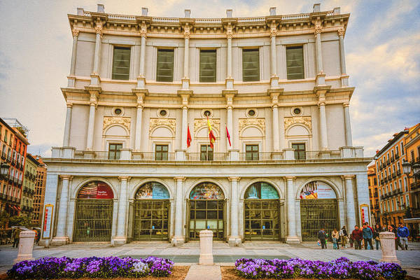 Photograph - Teatro Real Madrid by Joan Carroll
