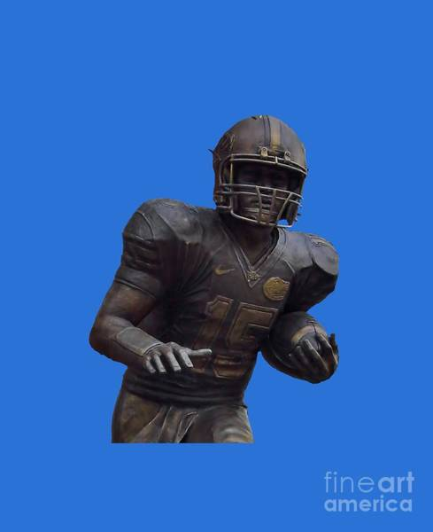 Photograph - Tebow Transparent For Customization by D Hackett