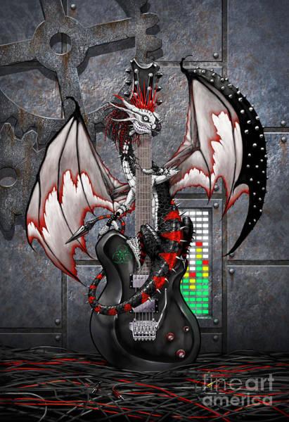 Tech-n-dustrial Music Dragon Art Print