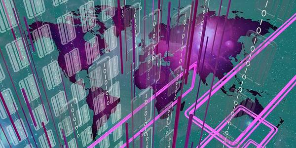 Digital Art - Tech Perspective World by Alberto RuiZ