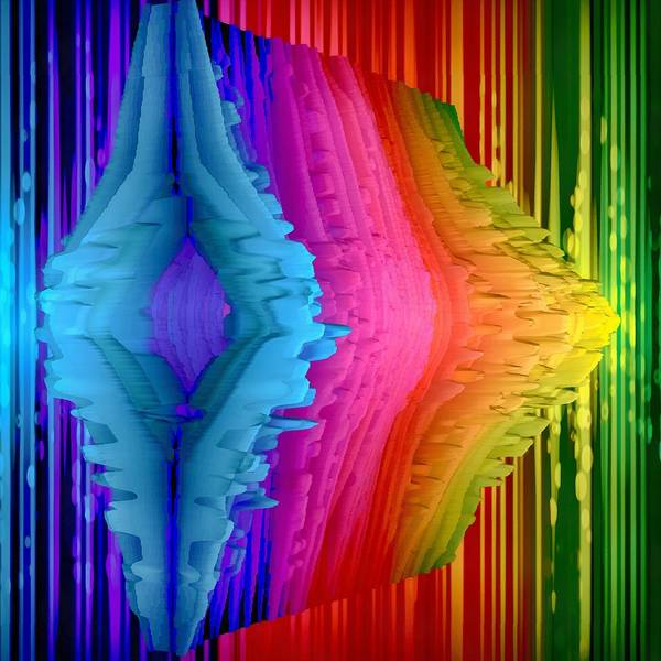 Vibrations Digital Art - Techno Digital Vibrations by Angelina Tamez