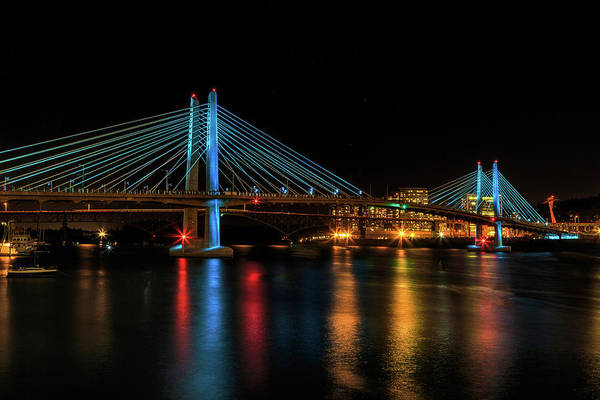Photograph - Technocolor Tilikum Crossing by Wes and Dotty Weber