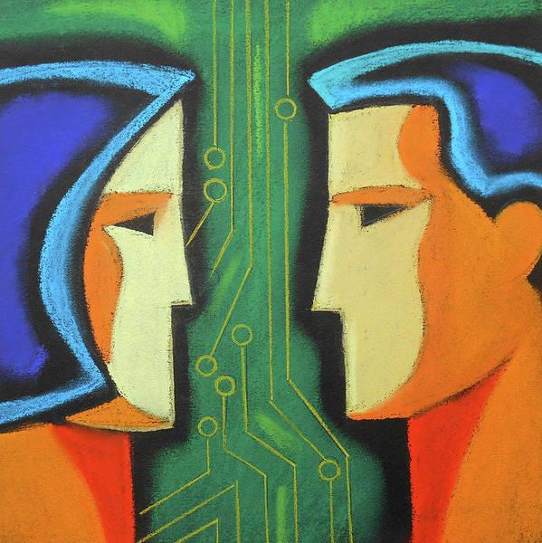 Potential Painting - Technology And Intelligence by Leon Zernitsky