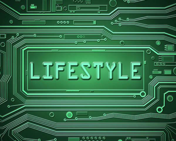 Behaviour Digital Art - Technology Lifestyle Concept. by Samantha Craddock