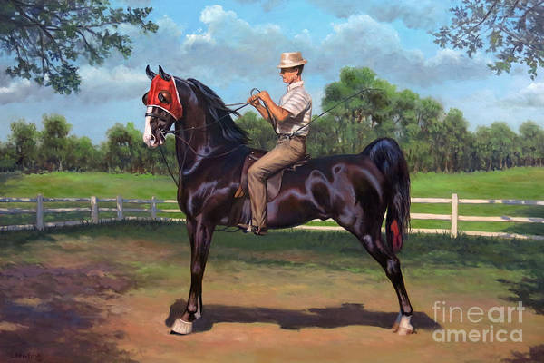 Wall Art - Painting - Ted Macklin And Sunset Commander by Jeanne Newton Schoborg