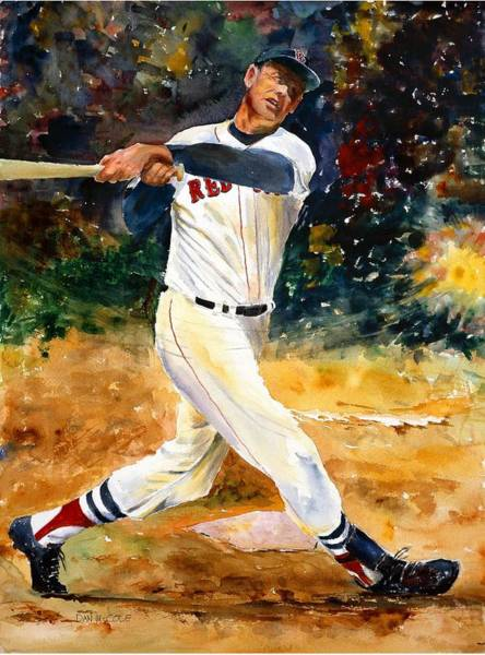 Hitter Painting - Ted Williams by Dan McCole