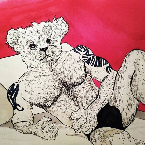 Drawing - Teddy by Russell Boyle