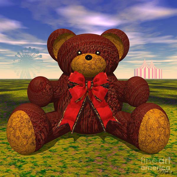 Digital Art - Teddy Bear by Walter Neal
