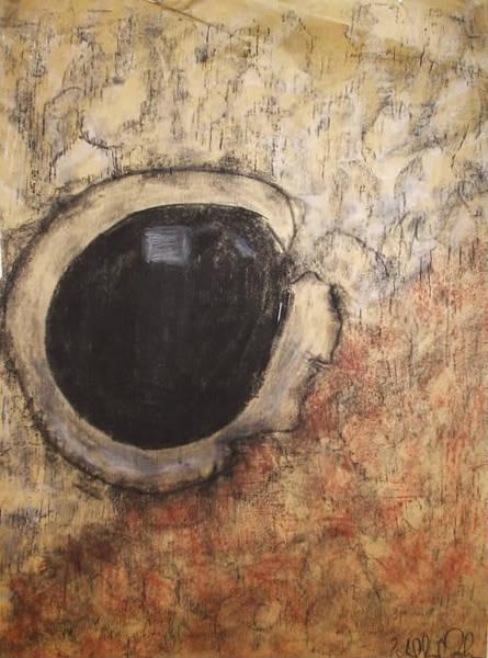 Organic Abstraction Drawing - Teddy Bear Eye 2 by William Douglas