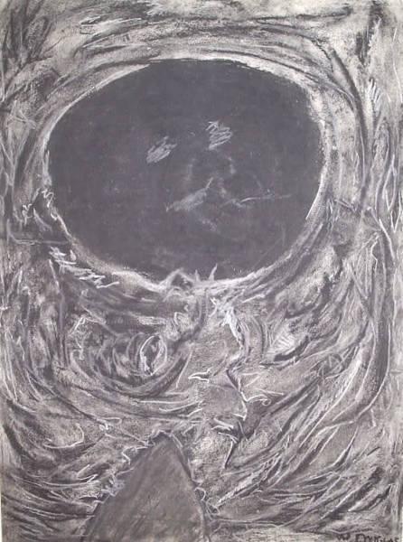Organic Form Drawing - Teddy Bear Eye Detail by William Douglas