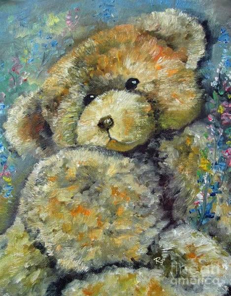 Painting - Teddy Bear by Ryn Shell
