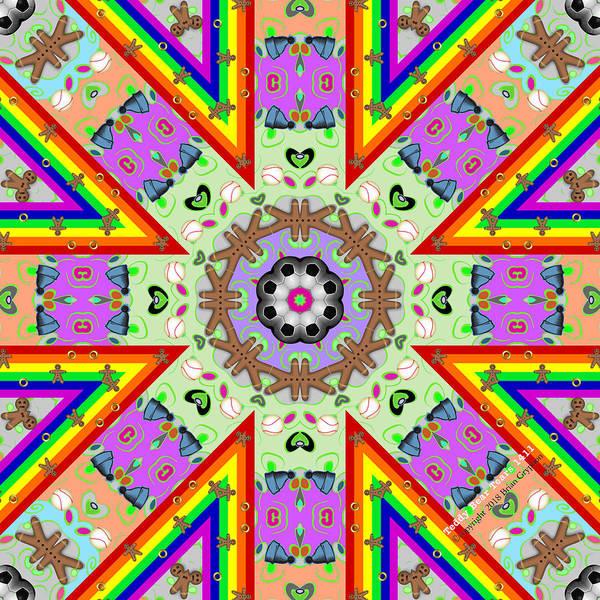 Digital Art - Teddy Bear Tears 1411k8 by Brian Gryphon