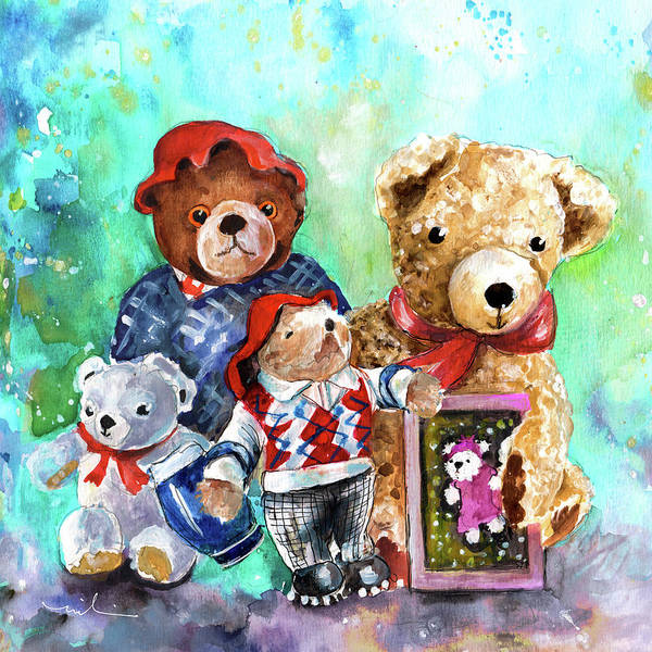 Painting - Teddy Bears From York by Miki De Goodaboom