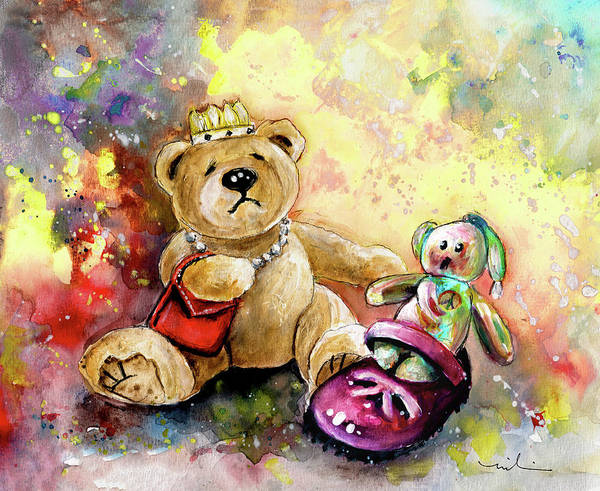 Painting - Teddy Bears In Helmsley by Miki De Goodaboom