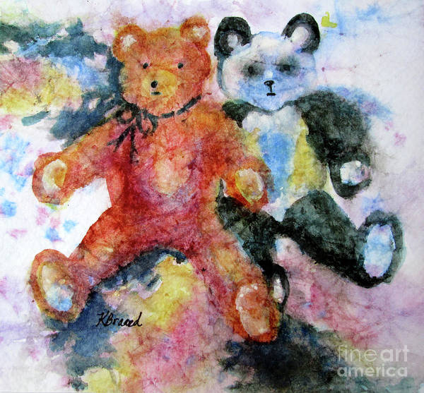 Wall Art - Painting - Teddy Bears by Kathy Braud