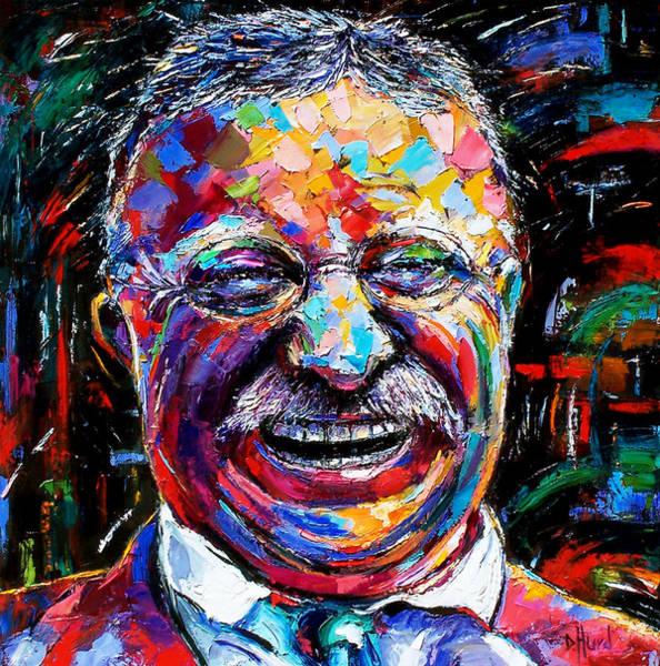 Wall Art - Painting - Teddy Roosevelt by Debra Hurd