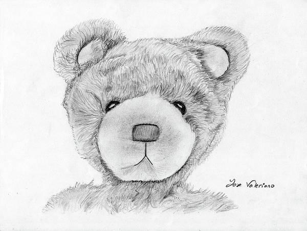 Drawing - Teddybear Portrait by M Valeriano