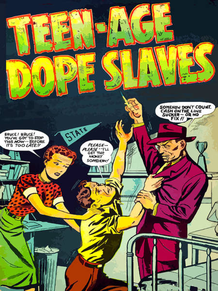 Dope Painting - Teen-age Dope Slaves by Dominic Piperata