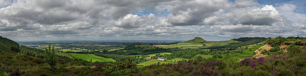 Photograph - Tees Plain And Roseberry Topping by Gary Eason