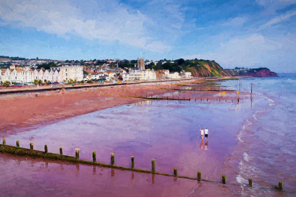 Wall Art - Photograph - Teignmouth Devon England Uk With Blue Sky A Colourful Traditional English Coastal Scene by Michael Charles