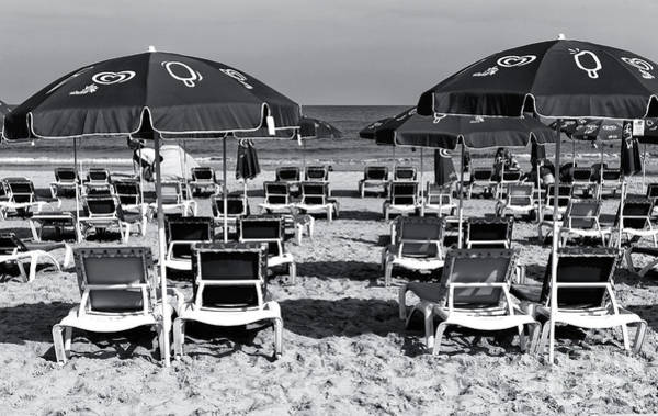 Wall Art - Photograph - Tel Aviv Beach Chairs by John Rizzuto