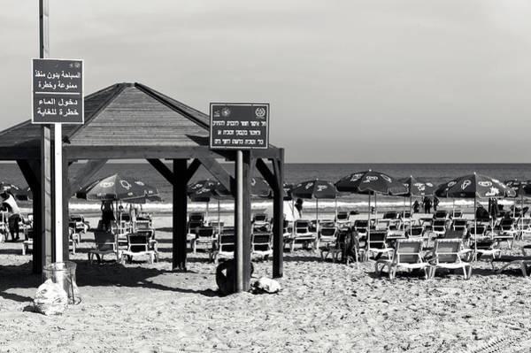 Wall Art - Photograph - Tel Aviv Beach Signs by John Rizzuto