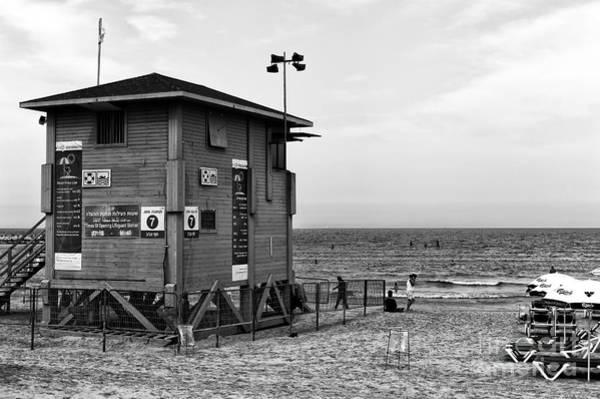 Wall Art - Photograph - Tel Aviv Lifeguard Hut by John Rizzuto