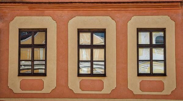Photograph - Telc Window Reflections - Czechia by Stuart Litoff
