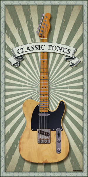 Wall Art - Digital Art - Telecaster Classic Tones by WB Johnston