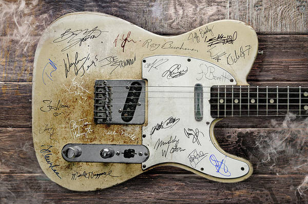 Wall Art - Digital Art - Telecaster Guitar Fantasy by Mal Bray