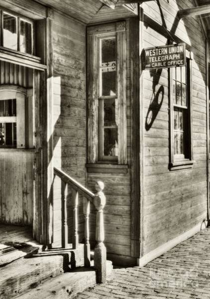 Photograph - Telegraph And Cable Office Sepia Tone by Mel Steinhauer