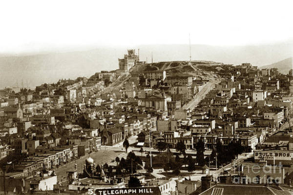 Photograph - Telegraph Hill And Washington Square.  Circa 1890 by California Views Archives Mr Pat Hathaway Archives