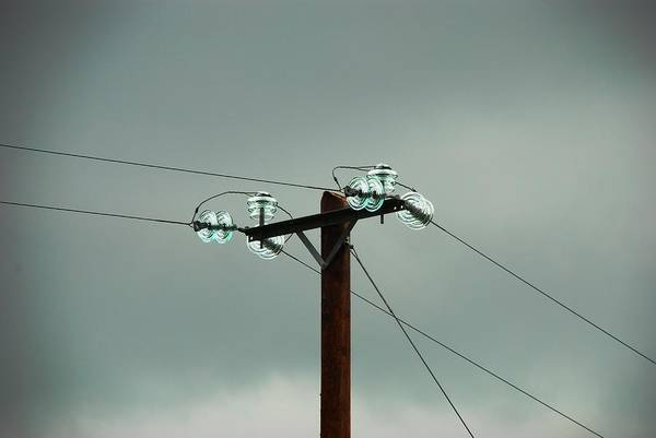 Glass Insulator Photograph - Telegraph Lines by Charlie and Norma Brock
