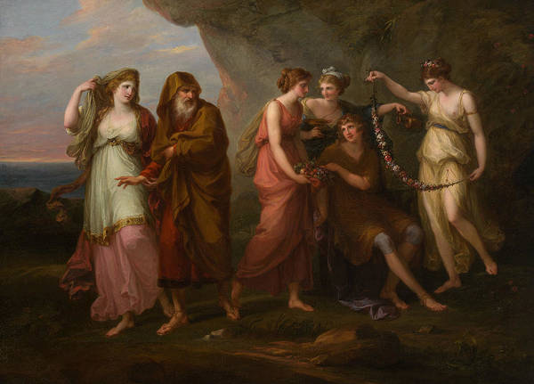 Painting - Telemachus And The Nymphs Of Calypso by Angelica Kauffman