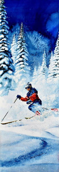 Olympic Sports Painting - Telemark Trails by Hanne Lore Koehler